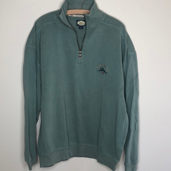 Tommy Bahama Tops - Tommy Bahama green 1/4 zip sweatshirt L